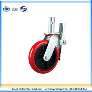 PU Cast Iron Scaffolding Caster Wheel pictures & photos
