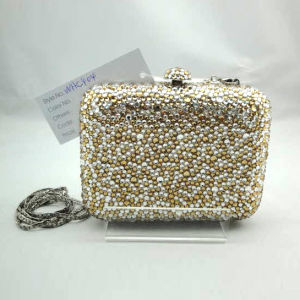 Crystal Evening Bag (WHC404-32GOLD+SILVER)