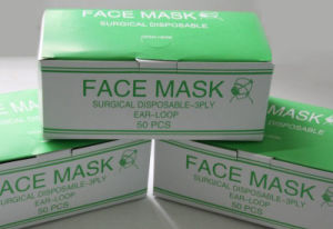 Non Woven Surgical Face Mask for Medical Protection Three Types Kxt-FM39 pictures & photos