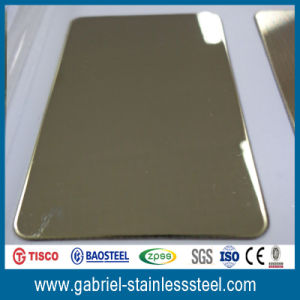 1.5mm Thick 201 304 Color PVC Sheet Stainless Steel pictures & photos