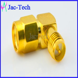 RP-SMA Male to RP SMA Female Right Angle RF Coaxial Connector