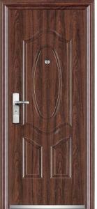 PVC Surface Steel Door (YF-SP10) pictures & photos