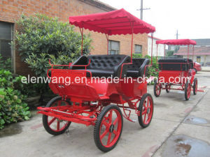 Sightseeing Tourist Horse Cart Horse Carriage with Hood pictures & photos