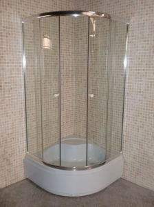 Good Quality Low Price Bathroom Glass Shower Sliding Door pictures & photos