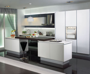 Commercial China High Gloss Lacquer Kitchen Cabinet Design pictures & photos