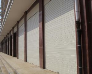 Insulated& Extruded Aluminum Rolling Shutter Door (SLLP55-120) pictures & photos