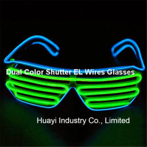 Dual Colour Shutter EL Sunglasses pictures & photos