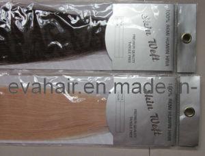 100% Russian Hair Hand Tied PU Skin Tape Weft