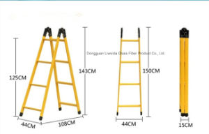 GRP/FRP/Fiberglass Ladders, FRP Caged/Handrail with Chemical Resistance pictures & photos