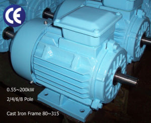 1.1kw/1.5HP, 1500rpm~4 Pole, 220/380V 3pH Electric Motor