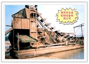 Dredger Machine with Mining Gold