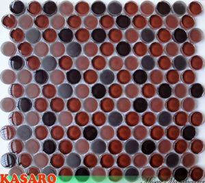 Colorful Frosted Round Glass Mosaic Tile Mosaic Circle Wall Tile (KSL7734)