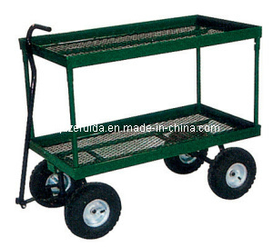 Flowerpot Turnover 2 Shelf Garden Cart (TC4204) pictures & photos