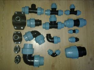 Pn16 PP PE Compression Fitting Size 20-110mm Color Black and Blue pictures & photos