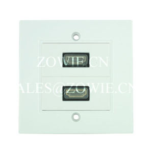 HDMI Wall Plate, 2 Way, EU Size