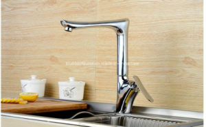 Long Neck Beauty Salon Bathroom Brass Kitchen Sink Faucet pictures & photos