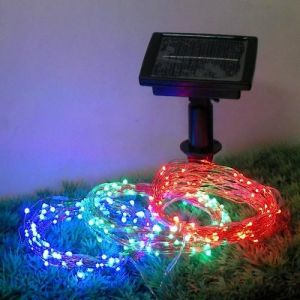 Outdoor 60 LEDs / 100 LEDs / 200 LEDs Solar Copper Wire Lights pictures & photos