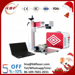 Portable Fiber Laser Marking Etching Machine on Metal pictures & photos