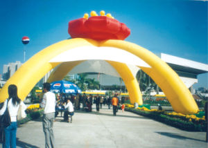 Inflatable Arches (IN-243), amusement park, fun city, bouncer, arch, castle, slide, climbing, moving cartoon, model, air dancer, sky dancer, balloon, tent, toy