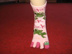 Ladies′ Five Toe Socks 1