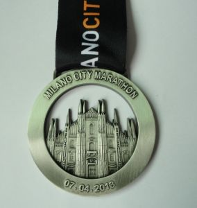 3D Marathon Medaillen with Antique Finish, Cusotmized Sport Medal