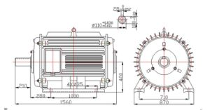 100kw-100rpm-60Hz Permanent Magnet Wind Generator pictures & photos