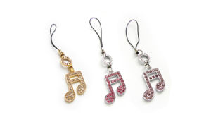 Fashion Musical Notes Cell Phone Jewelry (C2712)