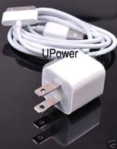AC Wall Charger+USB Sync Data Cable for iPhone 3G 3GS