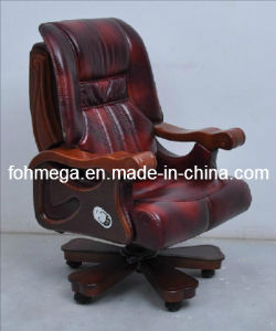 Genuine Leather Movable Conference Chair for Boss, Chairman, CEO Foh-1311 pictures & photos