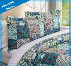 Botanical Garden Printed Polyester Patchwork Quilt pictures & photos