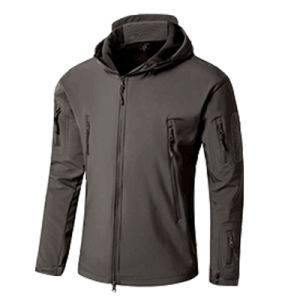 Best Waterproof Men′s Hooded Softshell Jacket (QF-4122) pictures & photos