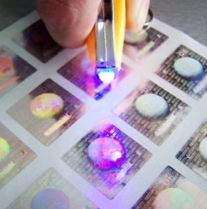 Hologram Sticker With Fluorescent Effect