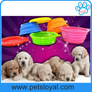 Factory Large Silicone Collapsible Pet Dog Feeder Bowl pictures & photos