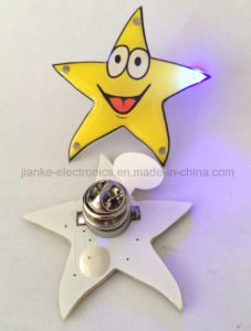 Round Shape Logo Custom LED Light Badge for Promotion Gifts (3569) pictures & photos