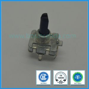 16mm Incremental 5V DC Rotary Metal Shaft Encoder, Horizontal Pins, for DVD Players, Personal Audio pictures & photos