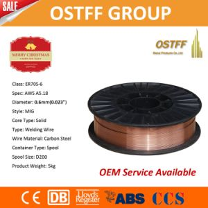 0.6mm 5kg Plastic Spool Precision Layer Wound China MIG Welding Wire (ER70S-6)