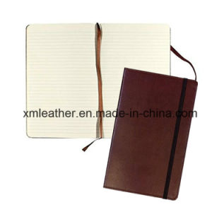 Leather 100GSM Cream Pages Planner Diary Notebook with Elastic Closure pictures & photos
