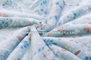 Polyester Printed Sherpa Fleece Throw - Leaf pictures & photos
