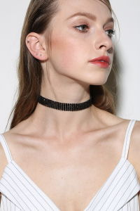 Fashion Ladies Full Diamond Crystal Rhinestone Chokers Necklace Set Wedding Jewelry Gift pictures & photos