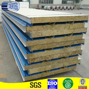 Building materials PU-rockwool sandwich panel/rock wool sandwich panel pictures & photos