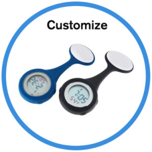 Custom Silicone Brooch Digital Nurse Watch pictures & photos