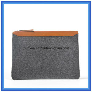 Factory Make Customized Wool Felt Casual Laptop Briefcase Bag, Hot Promotion Portable Hand Bags with Zipper pictures & photos