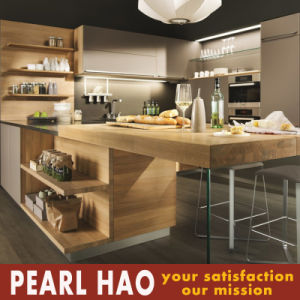 Customized Simple Style MDF Melamine Kitchen Cabinet pictures & photos