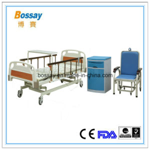 Hospital Bed by Electric with Food Table pictures & photos