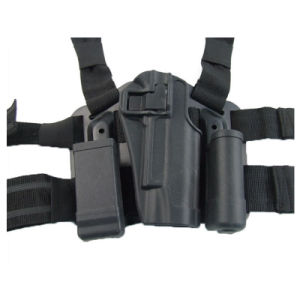 Police Drop Leg Gun Holster with Tactical Mag Pouch for CQC Colt 1911 pictures & photos