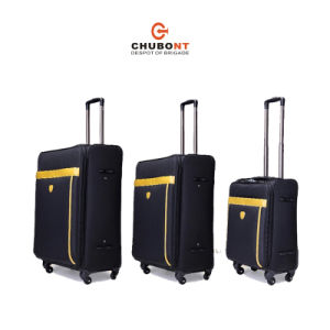 Chubont High Qualilty Nylon with PU Leathe Frame Rolling Travel Luggage Set pictures & photos