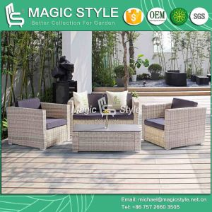 Garden Sofa Set with Cushion Patio Single Sofa with Pillow pictures & photos