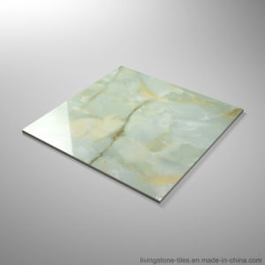 Ceramic Foshan 600X600 Floor Tiles Green Marble Look Porcelain Tile Stock pictures & photos