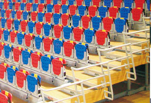 Indoor Telescopic Retractable Bleacher Seats for Gym, Stadium pictures & photos