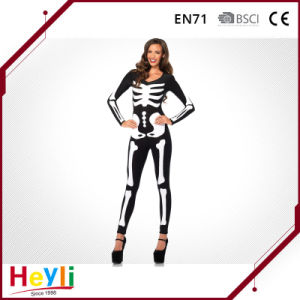 Halloween Party Adult Skeleton Cosplay Costume for Women Girls pictures & photos